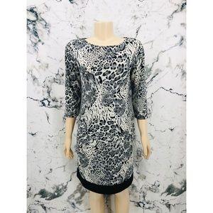 Tiana B. Animal Leopard Print Long Sleeve Dress
